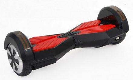 мини-сигвей Smart Transformers LED с колонками (черный/красный) 8″